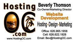 Hosting OC Website Design
