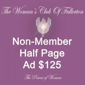 Non-Member half Page ad