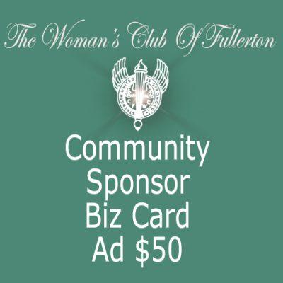 WCOF Community Sponsor Biz car Ad 50