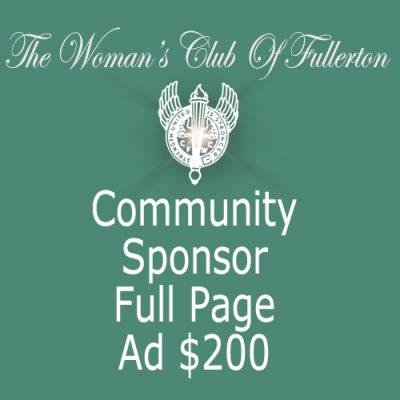 WCOF Sponsor Full Page Ad