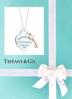 Tiffany & Co Heart & Key Necklace