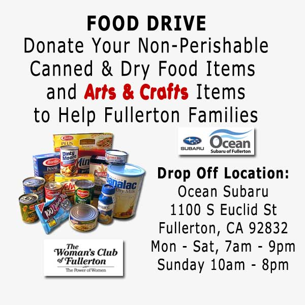 WCOF Food Drive Info