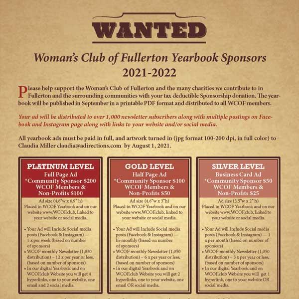 WCOF Sponsorship Flyer