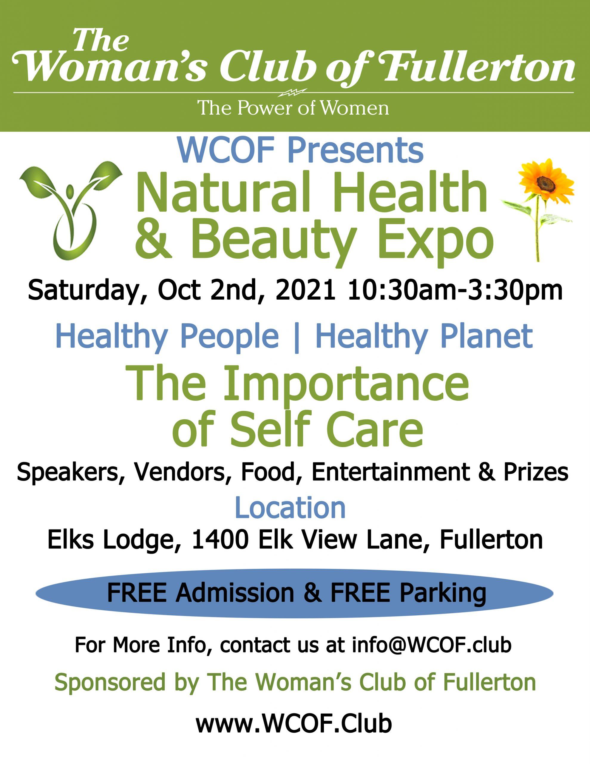 WCOF Health and Beauty Expo 2021