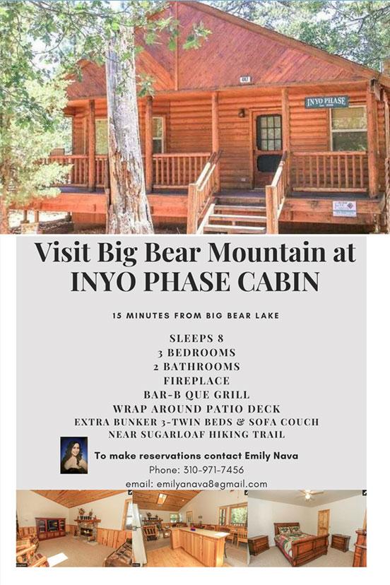 Inyo Phase Cabin Big Bearr